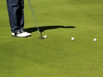 kurs golfa Zdjęcia Royalty Free