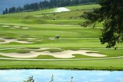 kurs golfa obraz stock