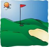 kurs golfa ilustracja wektor