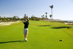 kurs golfa Obrazy Royalty Free