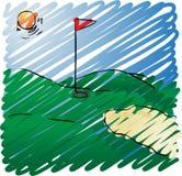 kurs golfa royalty ilustracja