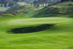 kurs golfa krajobrazu zdjęcia stock