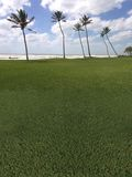 kurs golfa na plaży palma fotografia royalty free
