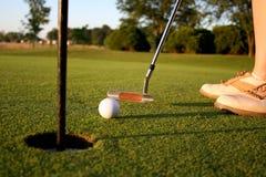 kurs golfowa kobieta Obrazy Royalty Free