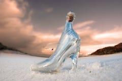kurs zakrywał szkła golfowego kapcia śniegu biel fotografia royalty free