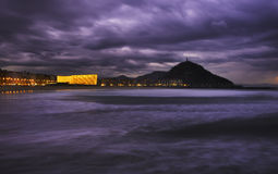 The Kursaal Congress Centre and Auditorium  in the night Stock Photography