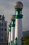 kursaal San Sebastian för bro streetlamp Arkivfoto
