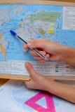 Kurser i geografi arkivbild
