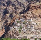 Kursha monasteru panorama przy Zanskar Zdjęcia Royalty Free