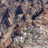 Kursha monastery panorama at Zanskar Royalty Free Stock Image