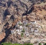Kursha monastery panorama at Zanskar Royalty Free Stock Photos