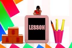 kursillustration för kvinnor 3d Royaltyfri Fotografi