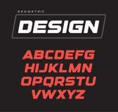 Kursiv djärv geometrisk alfabetdesign För vektorstilsort för sport modig mall stock illustrationer