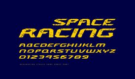 Kursiv fördjupad Sans Serif stilsort vektor illustrationer