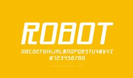 Kursiv Sans Serif stilsort i cyberstil vektor illustrationer