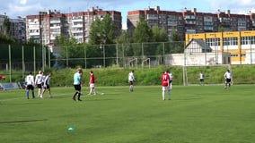 KURSK ROSJA, LIPIEC, - 3: futbolowy dopasowanie mistrzostwo amatora drużyny zbiory wideo