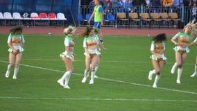 KURSK ROSJA, SEP, - 20, 2017: mowa cheerleaders w przerwa przerwie zbiory