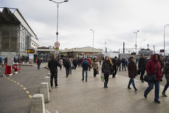 Kursk Station Square subway Chkalovskaya Royalty Free Stock Photography