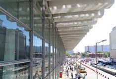 Kursky kolejowy terminal jest jeden dziewięć kolejowych terminali w Moskwa, Rosja (także znać jako Moskwa Kurskaya kolej) Obraz Stock