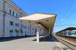 Kursky kolejowy terminal jest jeden dziewięć kolejowych terminali wewnątrz w Moskwa, Rosja (także znać jako Moskwa Kurskaya kolej Zdjęcie Stock