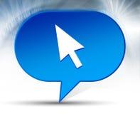 Kursor ikony bąbla błękitny tło ilustracji