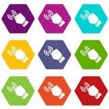 Kursor ręki ikony ustawiają 9 royalty ilustracja