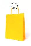 Kursor ręka trzyma torba na zakupy Fotografia Royalty Free