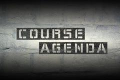 Kursowa agenda gr Obrazy Royalty Free
