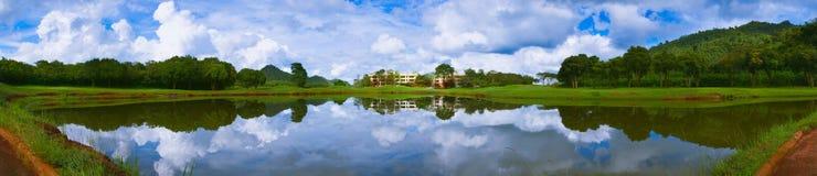 kursowa golfowa panorama Zdjęcia Stock