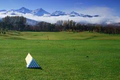 kursowa golfowa panoramiczna scena Zdjęcie Stock