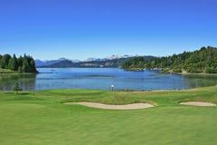 kursowy golfowy jezioro Obrazy Stock