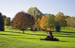 kursowy golfowy kosiarz Fotografia Stock