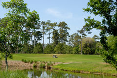 kursowy golfowy malowniczy Fotografia Royalty Free