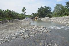 Kursowy piasek przy Mal riverbed, Matanao, Davao Del Sura, Filipiny obraz royalty free