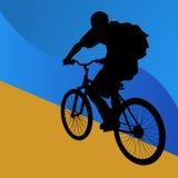 Kursteilnehmer-Fahrrad-Mitfahrer stock abbildung
