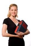 Kursteilnehmer-Holding-Bücher Stockbild