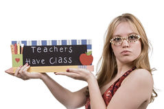 Kursteilnehmer-Lehrer Stockfotos
