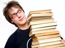 Kursteilnehmer mit Büchern lizenzfreie stockfotografie