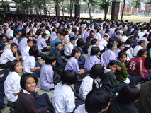Kursteilnehmer, Thailand. Stockbild