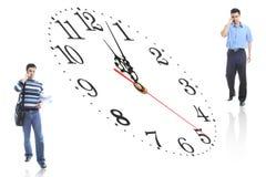 Kursteilnehmer und Zeit Stockfoto