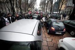 Kursteilnehmerdemonstration in Mailand 22. Dezember 2010 Lizenzfreie Stockbilder