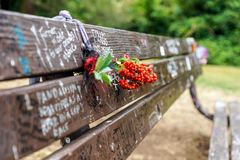 Kurt Cobain Memorial Bench Fotografia Stock Libera da Diritti