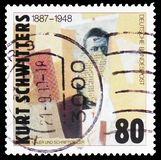 Kurt Schwitters, Birth Centenary serie, circa 1987. MOSCOW, RUSSIA - FEBRUARY 23, 2019: A stamp printed in Germany, Federal Republic shows Kurt Schwitters, Birth stock photos