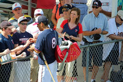 Kurt Suzuki Signing Autographs at Spring Training Stock Images