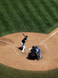 Kurt Suzuki waits for ball as it flies though air Royalty Free Stock Photo