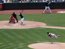 Kurt Suzuki waits for pitch from Clay Buckholz Stock Images