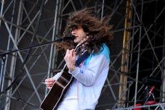 Kurt Vile exécute au festival 2013 de bruit de Heineken Primavera Photographie stock libre de droits