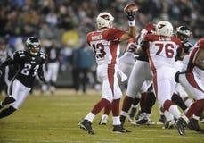Kurt Warner. Quarterback, Arizona Cardinals, passes against Philadelphia in 2008 Royalty Free Stock Photos