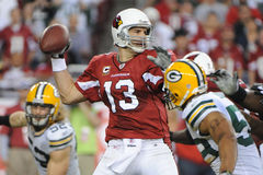 Kurt Warner passes for five Touchdowns. Kurt Warner of the Arizona's Cardinals had one of his best days as NFL Quarterback in leading the Arizona Cardinals to Royalty Free Stock Photography