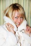 kurtka próbuje kobiet potomstwa Fotografia Royalty Free